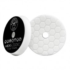 Полировальный круг для полировки автомобиля Chemical Guys №4 степени жесткости белый пенополиуретановый полировальный круг Hex-Logic Quantum 13,97 см