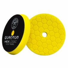 Полировочный круг Chemical Guys  №1 жесткости желтый пенополиуретановый полировальный круг Hex-Logic Quantum 13,97 см