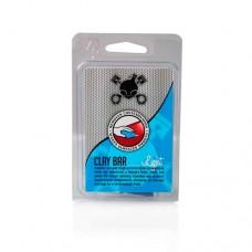 Глина для полировки авто Chemical Guys синяя синтетическая глина для удаления загрязнений с ЛКП, пластика или стекла «New Clay Bar Light – Blue», 100 гр