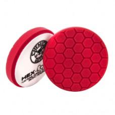 Полировальные круги для авто Chemical Guys №7 жесткости  красный пенополиуретановый полировальный круг Hex-Logic 13.97 см